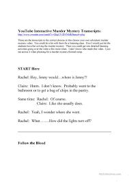 free halloween murder mystery party 19 free esl murder worksheets