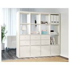 System Build 6 Cube Storage by Kallax Shelf Unit White Ikea