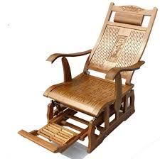 Bamboo Rocking Chair Wood Recliner Chair Summer Reclining Wood High Chair 77