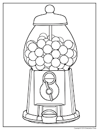 gumball machine coloring page eson me