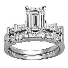 emerald cut wedding set custom diamond engagement rings houston diamond district