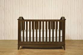 rustic rectangle wood baby crib with tapered legs decofurnish
