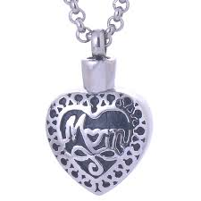 necklace urns for ashes new fashion stainless steel in heart pendant necklace