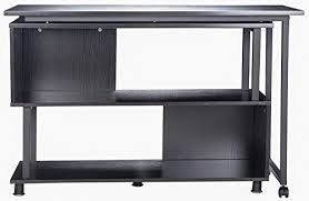 Computer Desk With Wheels Merax Rotatable Computer Desk Home Office Furniture L Shaped With