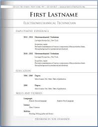 Free And Easy Resume Templates Basic Resume Format Basic Resume Format Free Basic Resume