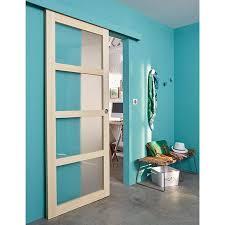 porte de chambre castorama porte coulissante ayous 4 carreaux 73 cm système en applique oléni