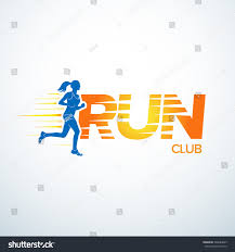 run club logo template sport logotype stock vector 368284007