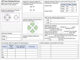 edexcel cc5 ionic bonding revision worksheet by fosterpaul