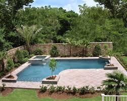 small backyard waterfalls concrete inground swimming pools back