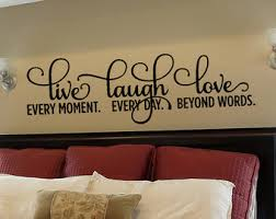 winsome design live laugh wall decal decals large print white