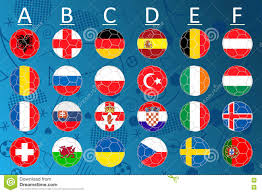 Football Country Flags Euro 2016 France Vector Flags And Groups European Football