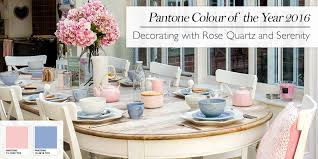 rose quartz and serenity how to decorate with pantone u0027s colour of