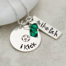 Sterling Silver Personalized Necklaces Personalized Soccer Player Necklace Sterling Silver Jessie