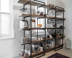 glamorous industrial kitchen racks shelving home interior ideas