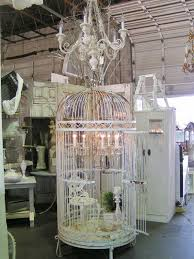 Birdcage Chandelier Shabby Chic What An Eye For Detail Use My Large Bird Cage Small Chandelier