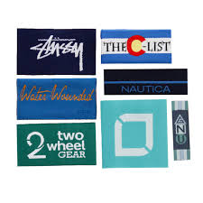 design label woven custom woven labels for clothes