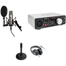 On Stage Ds7200b Adjustable Desk Microphone Stand Black by Rode Nt1 A Recording Studio Kit With Usb Ios Lightning Audio