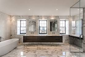 Tile Accent Wall Bathroom Impressive Marble Accent Wall Bathroom Contemporary With Floating