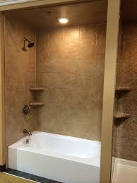 bathroom natural stone tiles small shower room with frameless door