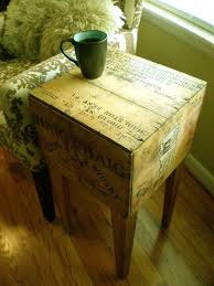 shipping crate coffee table shipping crate side table haig haig whisky 14in x 14in x 26in