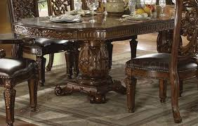 formal dining room set 60000 vendome dining table in cherry by acme