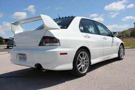 mitsubishi evolution 9 fs south 2006 mitsubishi lancer evolution 9 gsr wicked white
