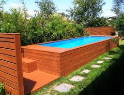 swimming pool backyard rectangular above ground lap pool with