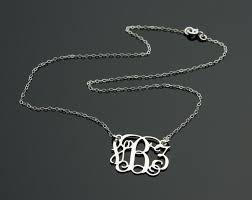 sterling silver monogram necklace pendant sterling silver monogram necklace 925 silver pendant with vine