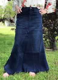 theklassygirlboutique a panel style modest jean skirt