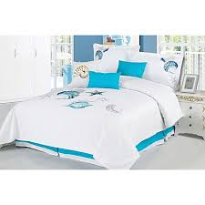 Beautiful Panama Jack Bedroom Furniture by Panama Jack Ocean Shells 7 Piece Embroidered Comforter Set Bed