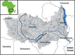 worlds rivers map sustainable water management in the zambezi river basin