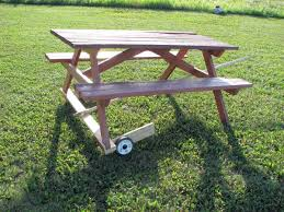 Plans For Outdoor Picnic Table by Make A Picnic Table Free Plans