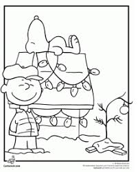 brown christmas snoopy dog house a brown christmas coloring activity ideas