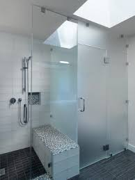 frosted glass shower door wall mount round shape shower head nice