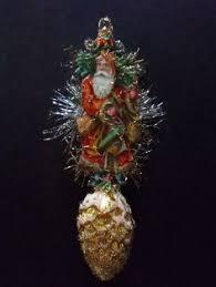 Antique Victorian Christmas Ornaments - vintage look victorian christmas ornament german scrap with