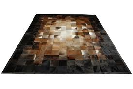 Leather Area Rug Beige Brown And Black Leather Area Rug Squares Design No 224 In