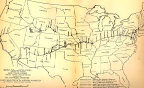 Pony Express Route Map by Us Map Showing Proposed Location Of National Old Trails Road
