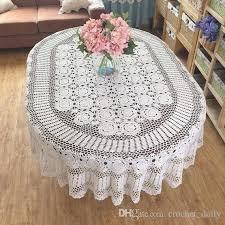 table cloth gorgeous crochet pattern tablecloth oval size table cover