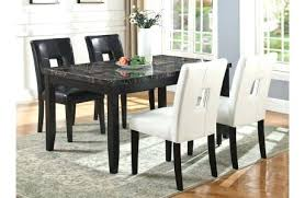 faux marble top dining table zeta set 1 u2013 dining room table and chairs