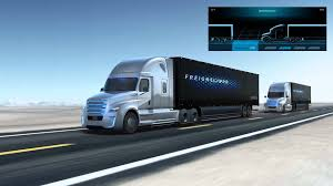 freightliner trucks freightliner inspiration truck platooning technology youtube