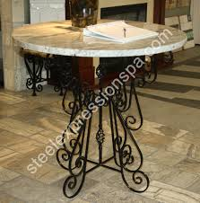 wrought iron table base for granite custom wrought iron projects steel expressions lancaster county pa