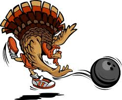 bowling thanksgiving turkey vector illustration