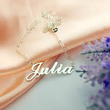 White Gold Personalized Necklace White Gold Julia Style Name Necklace