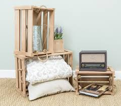 ebay bedside table ls natural rustic wooden crate