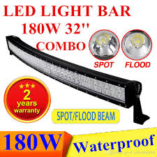 Waterproof Led Light Bar 12v by 32 U0027 U0027 Led Bar Curved 180w 32 Inch Led Light Bar Truck Suv Jeep Atv