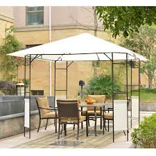 Outdoor Patio Canopy Gazebo by Outsunny Gazebo 10 U0027 X 10 U0027 Pop Up Folding Patio Canopy Tent Wedding
