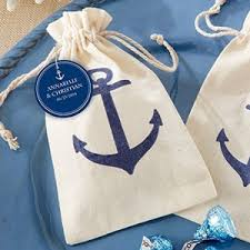 muslin favor bags voyages anchor muslin favor bag set of 12 organza fabric