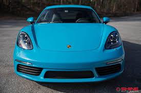 miami blue porsche boxster xpel porsche shine auto