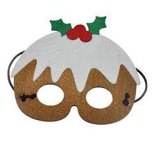 masks for kids 5pcs christmas party mask reindeer santa claus tree snowman