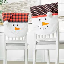snowman chair covers snowmen chair back covers with caps